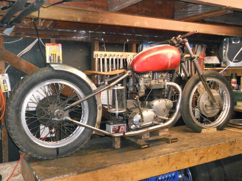 68 bonneville bobber build - triumph forum: triumph rat motorcycle