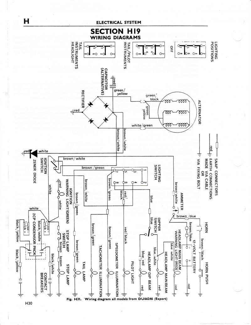 Wiring Diagram 72 Triumph Bonneville Page 3 And Tr250 Schematics Way Switch Automotive Diagrams