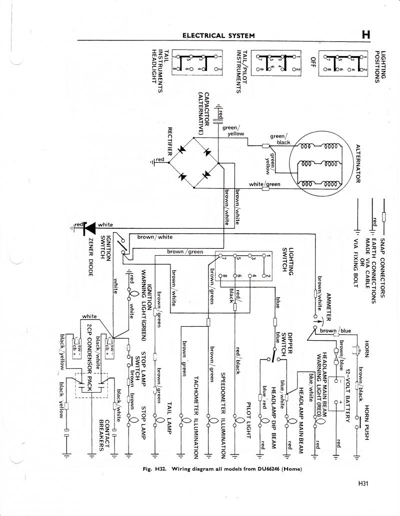 Triumph Trophy Motorcycle Wiring Diagram