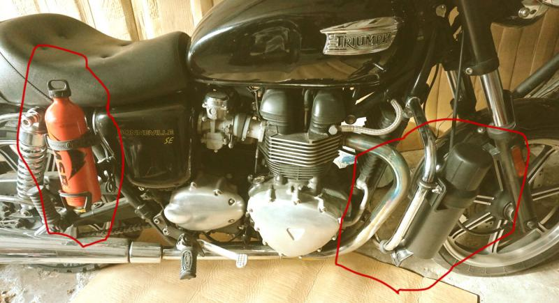 Extra Storage On Bonneville For Fuel And Tools Triumph Forum