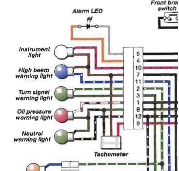 aftermarket mini tach installation - triumph forum: triumph rat, Wiring diagram