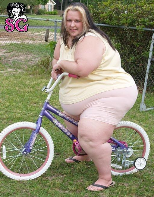 Fat Woman On Bicycle 105