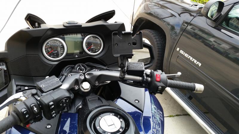 trophy gps mount - page 5 - triumph forum: triumph rat motorcycle