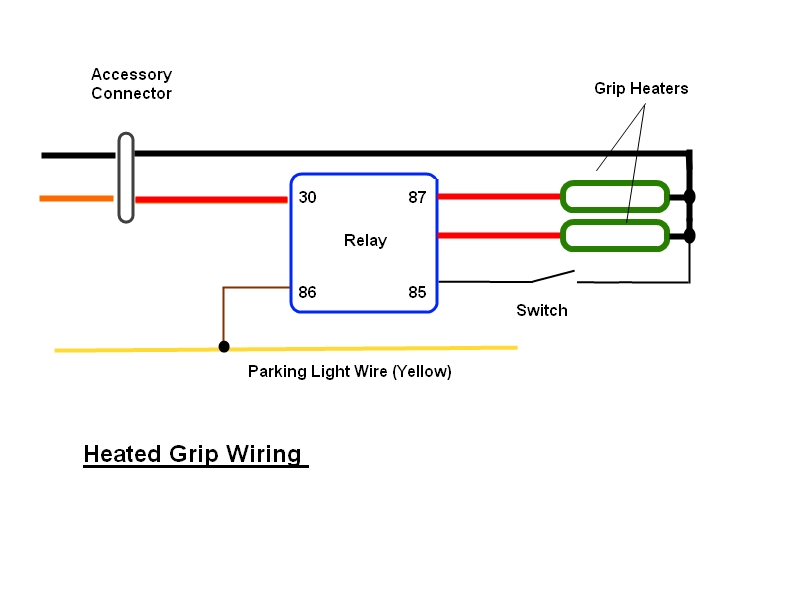heated grip wiring help please triumph rat motorcycle forums 12v relay wiring diagram wiring diagram for heated grips #13