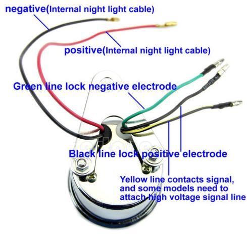 5 Wire Tachometer Help Triumph Rat, Tachometer Wiring Diagrams