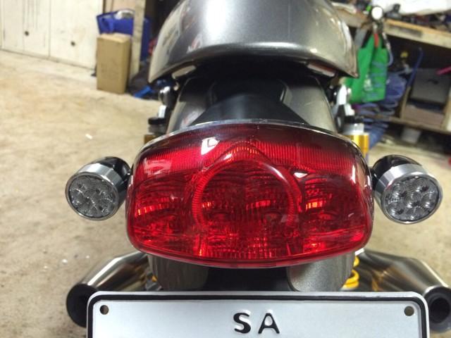 Fitting Factory Rear Mini Led Indicators On Thruxton R