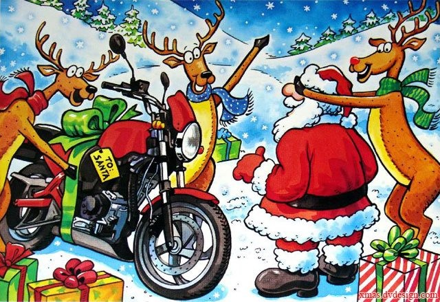 Santa Claus Honda >> Merry Christmas and Happy Holidays - Triumph Forum: Triumph Rat Motorcycle Forums