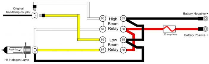 5 Pin relay for headlight - Triumph Forum: Triumph Rat ...  Post Relay Wiring Diagram Headlights on