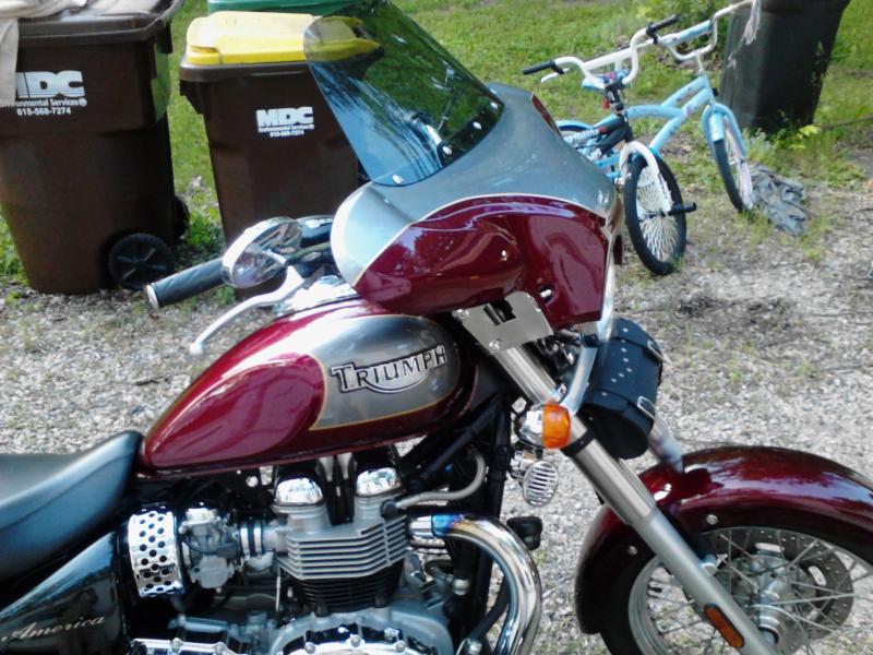 new fairing on 06 america - triumph forum: triumph rat motorcycle