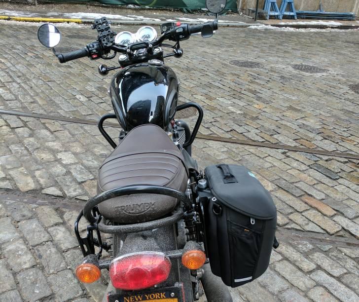 Givi Metro T Bags On T120 Triumph Forum Triumph Rat