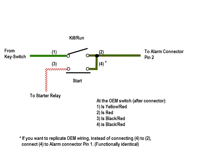 Help with starter/kill switch relocation wiring. | Triumph ... Kill Switch Relay Diagram on fuel pump relay diagram, headlight relay diagram, alarm relay diagram, electrical relay diagram, starter relay diagram, coil relay diagram,