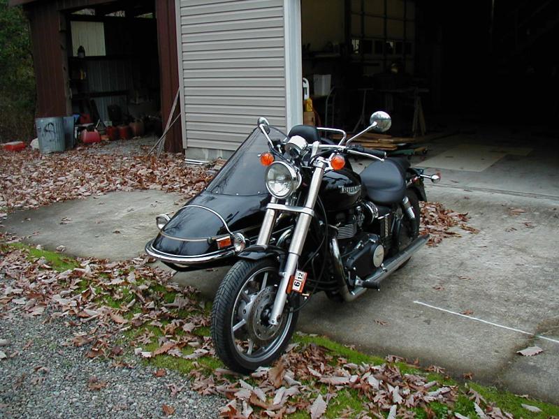 Triumph America with Sidecar
