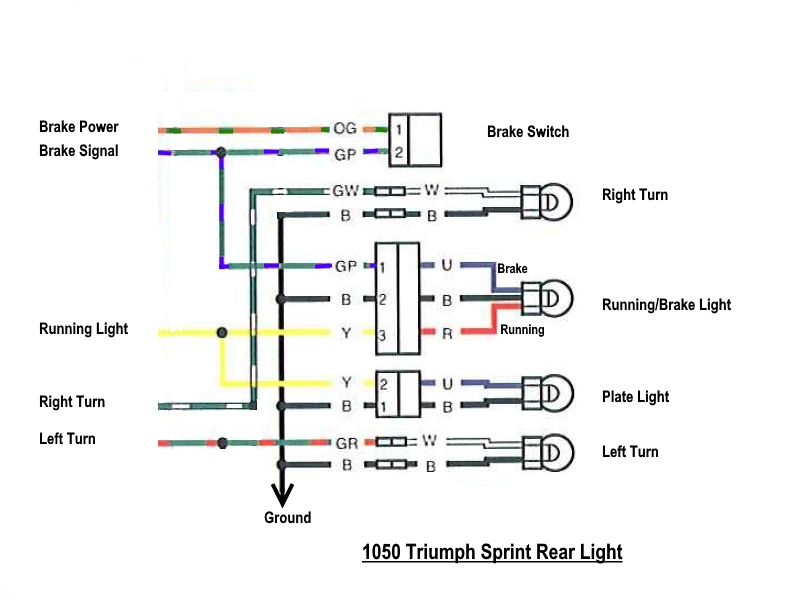 [FPER_4992]  Sprint 1050 back light wiring | Triumph Rat Motorcycle Forums | Triumph Sprint St Wiring Diagram |  | Triumph Rat