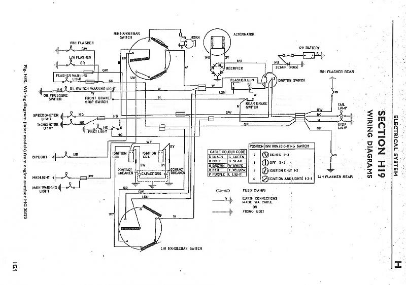 Wiring In The Headlamp Shell Triumph Rat Motorcycle Forums