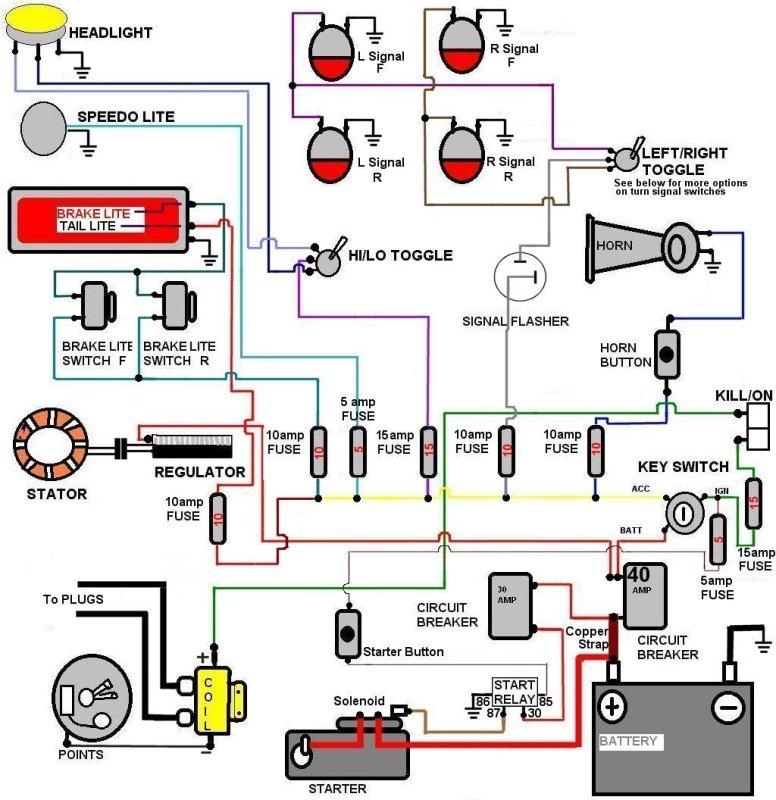 kawasaki fury wiring diagram wiring diagrams serious re wiring job triumph forum rat motorcycle forums