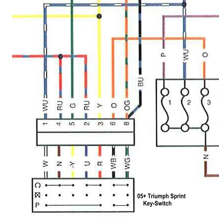 [DVZP_7254]   Theft Recovery need new Ignition Switch Wiring | Triumph Rat Motorcycle  Forums | Triumph Sprint St Wiring Diagram |  | Triumph Rat