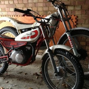 Yamaha TY mono, 74 TY80 my first bike with gears still got it,