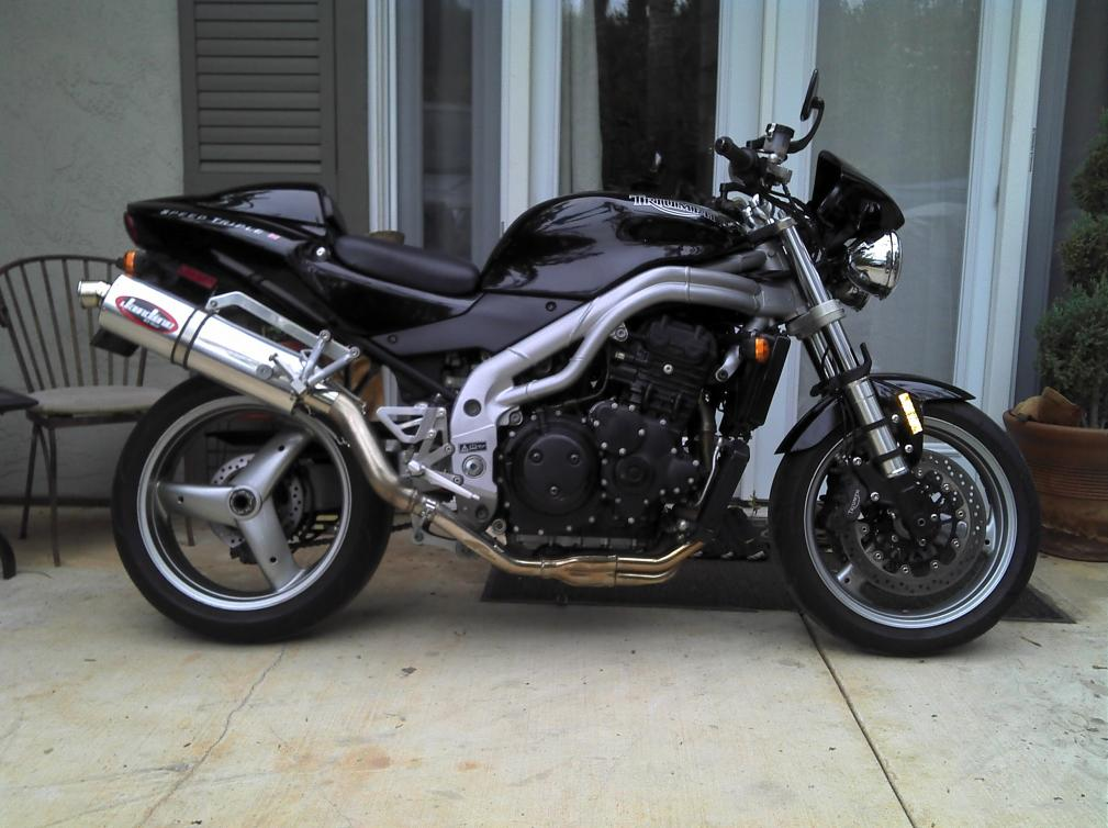 02 Speed Triple Check Engine Light On Fuel Light On Oil Can